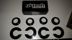 GKTECH aluminum black anodized subframe spacer kit