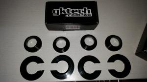 GKTECH aluminum black anodized subframe spacer kit