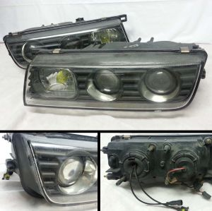 1988-1991 Nissan A31 Cefiro dual projector head lamps with amber running lights