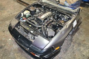 1993 Nissan 180SX half cut with blacktop SR20DET and 5 speed manual transmission complete