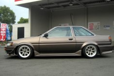AE86 Levin FR15-9.0 -13 RR15-9.5 -19 Tires 195-50-15 view 2