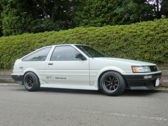 AE86 Levin GTV F and R 14-9.0 -19 Tires 175-60-14 view 2