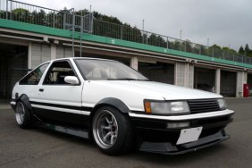 AE86 Levin Hatch Panda F and R 15-9.5 -19 Tires 205-50-15 view 2