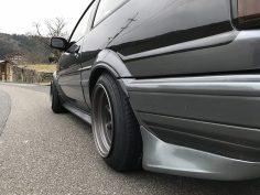 AE86 Sprinter Trueno Apex Silver-Black FR14-8.0 -6 RR14-8.5 -13 F tires 165-55-14 R tires 165-60-14 view 3