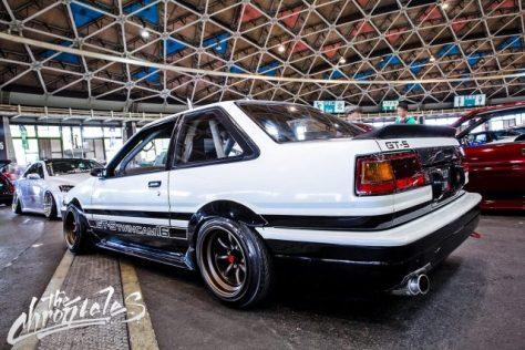AE86 Sprinter Trueno GT-Apex FR14-8.5 -13 RR14-9.0 -19 F tires 185-55-14 R tires 185-55-14 view 2