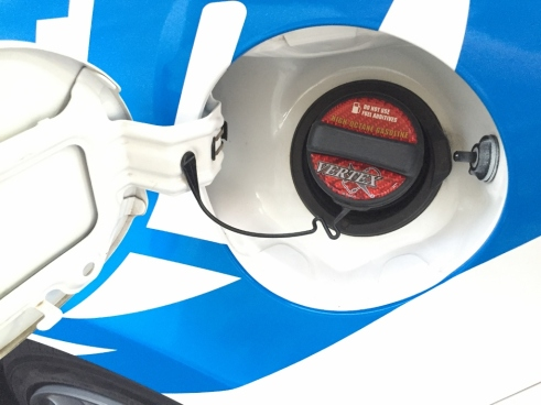Vertex Gas Cap Label